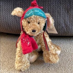 Hallmark Buddy Hollyday Dog Christmas Plush
